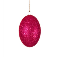 10 cm påskeæg med pink glitter