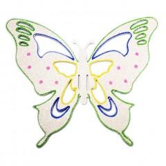 33x40 cm sommerfugle, hvid multi