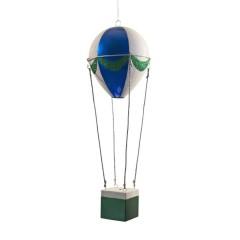 48 cm luftballon, blå, grøn og hvid