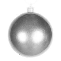 8 cm julekugle, perlemor, sølv