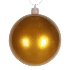 8 cm julekugle, perlemor, guld
