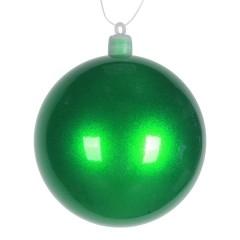 8 cm julekugle, perlemor, grøn