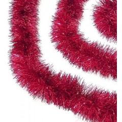 3 meter rød-lametta, eksklusiv kvalitet, Ø15 cm