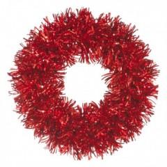 28 cm lamettakrans, rød