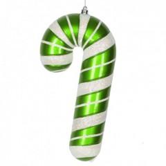 28 cm slikstok, perlemor, grøn m/hvidt glitter