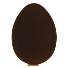 Påskeæg, stående, brun velour, 35 cm