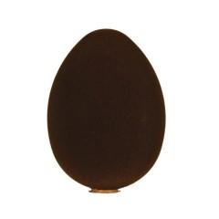 Påskeæg, stående, brun velour, 24 cm