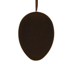 Påskeæg med ophæng, brun velour, 18 cm