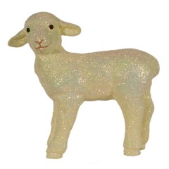 Påskelam, stående, æggeskal glitter, 29x29 cm