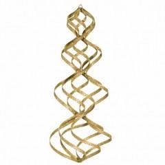 38 cm spiral, glitter, guld