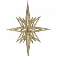 91 cm stjerne, glitter champagne, 3D