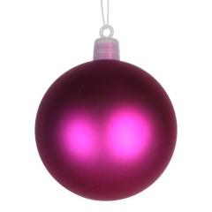 6 cm julekugle, mat, pink