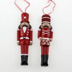 2 nøddeknækkere, ornament, 14,5 cm, polyresin, pris for 2 stk.