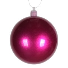 8 cm julekugle, perlemor, pink