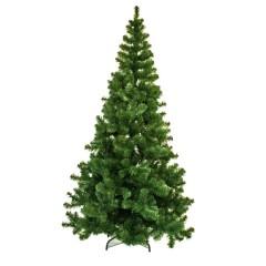 240 cm kunstgran juletræ, Ø144 cm