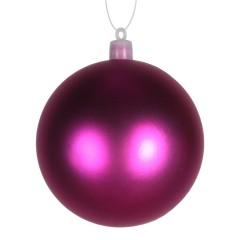 8 cm julekugle, mat, pink