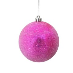 10 cm julekugle, frost, pink