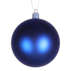 8 cm kugle, mat, blå