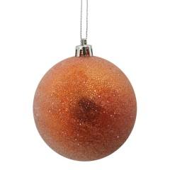 8 cm kugle, frost, orange