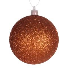8 cm kugle, glitter, orange