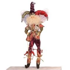 Joker julemand dukke, 50 cm