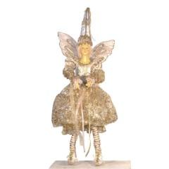 Flyvende fe dukke, gudmor, 60 cm
