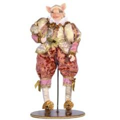 Mr. Pig dukke, 50 cm med stand
