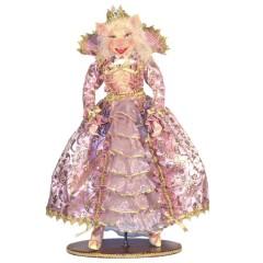 Mrs. Pig dukke, 50 cm med stand