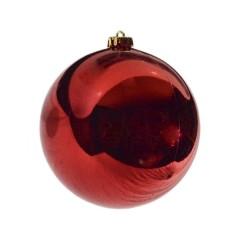 15 cm julekugle, blank rød