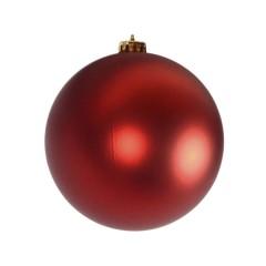 15 cm julekugle, mat rød