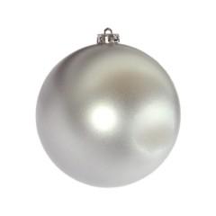 15 cm julekugle, mat sølv
