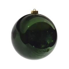 15 cm julekugle, blank grøn