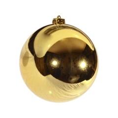 15 cm julekugle, blank guld