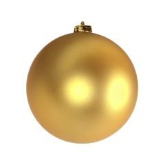 15 cm julekugle, mat guld