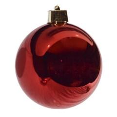 20 cm julekugle, blank rød