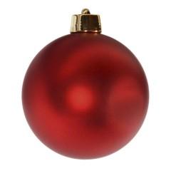 20 cm julekugle, mat rød