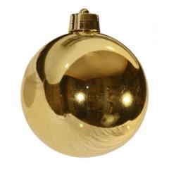 20 cm julekugle, blank guld
