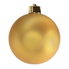 20 cm julekugle, mat guld