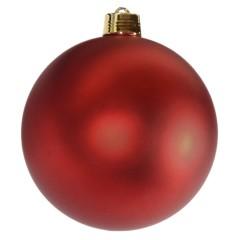 25 cm julekugle, mat rød
