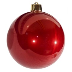 25 cm julekugle, perlemor rød