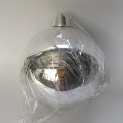 25 cm julekugle, blank sølv