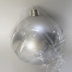 25 cm julekugle, mat sølv