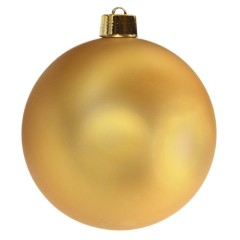 25 cm julekugle, mat guld