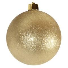 25 cm julekugle, glitter guld