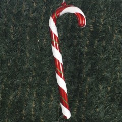 60 cm slikstok, perlemor rød med grønt og hvidt glitter