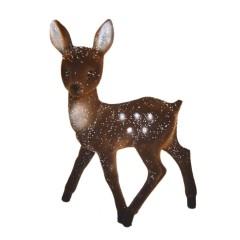 Bambi, 22x15 cm, brun velour med sne