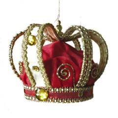 Kongekrone, 14x15 cm, rød og guld
