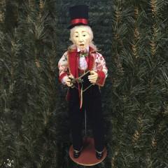 Julesanger, mand, 90 cm, rød, grøn og guld