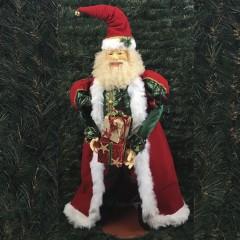 Julemand, 90 cm, rød, grøn og guld