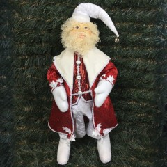 Julemand, 60 cm, rød og hvid
